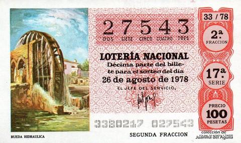 Décimo de Lotería 1978 / 33