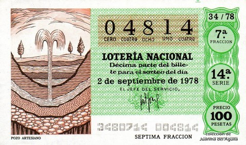 Décimo de Lotería 1978 / 34