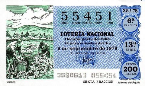 Décimo de Lotería 1978 / 35