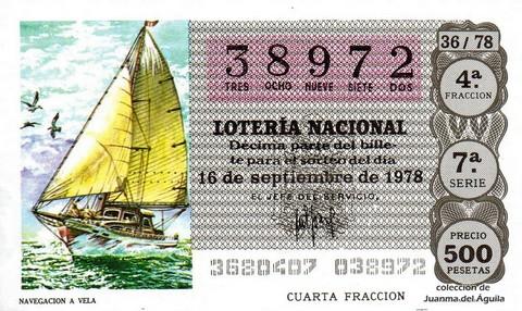 Décimo de Lotería 1978 / 36