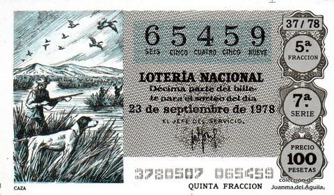 Décimo de Lotería 1978 / 37