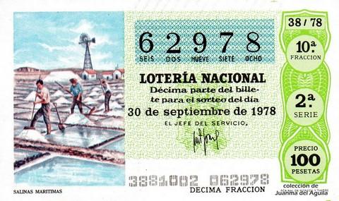 Décimo de Lotería 1978 / 38
