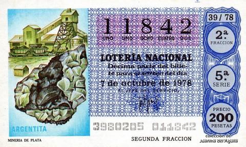 Décimo de Lotería 1978 / 39