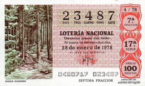 Décimo de Lotería 1978 / 4