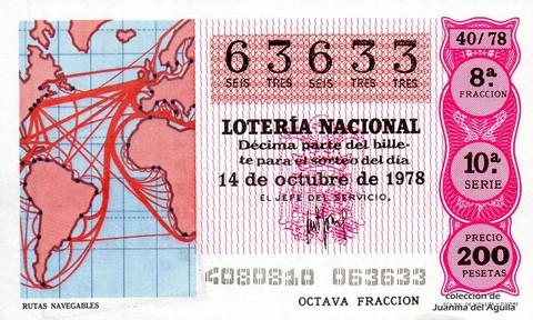 Décimo de Lotería 1978 / 40