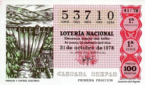 Décimo de Lotería 1978 / 41