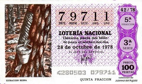 Décimo de Lotería 1978 / 42