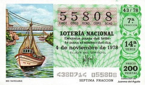 Décimo de Lotería 1978 / 43