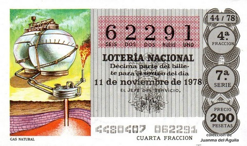 Décimo de Lotería 1978 / 44