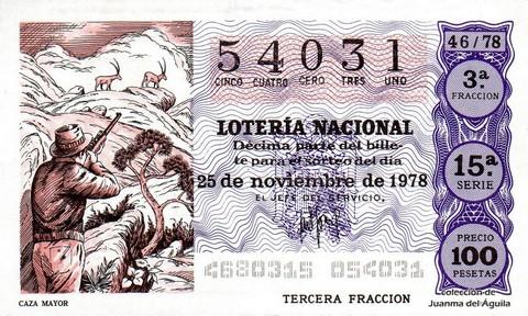 Décimo de Lotería 1978 / 46