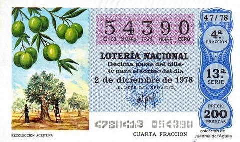 Décimo de Lotería 1978 / 47