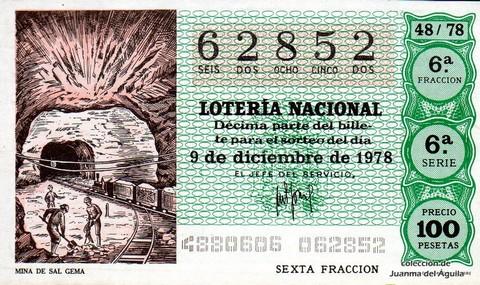 Décimo de Lotería 1978 / 48
