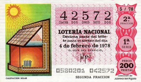 Décimo de Lotería 1978 / 5
