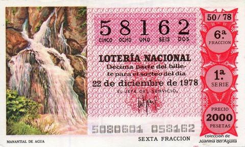 Décimo de Lotería 1978 / 50