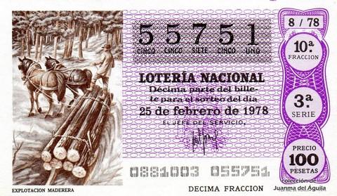 Décimo de Lotería 1978 / 8
