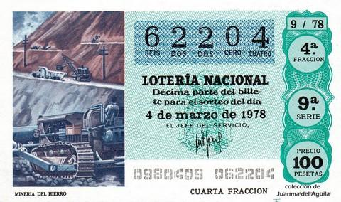 Décimo de Lotería 1978 / 9