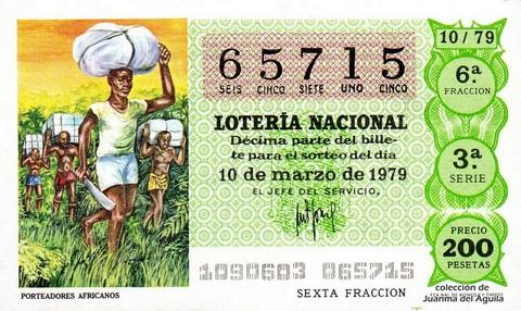 Décimo de Lotería 1979 / 10