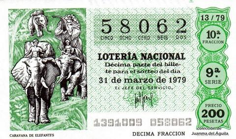 Décimo de Lotería 1979 / 13