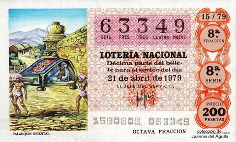 Décimo de Lotería 1979 / 15