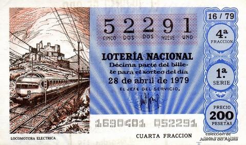 Décimo de Lotería 1979 / 16