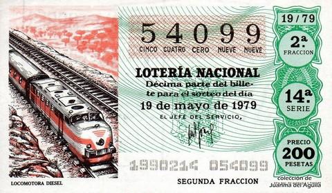 Décimo de Lotería 1979 / 19