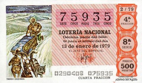 Décimo de Lotería 1979 / 2