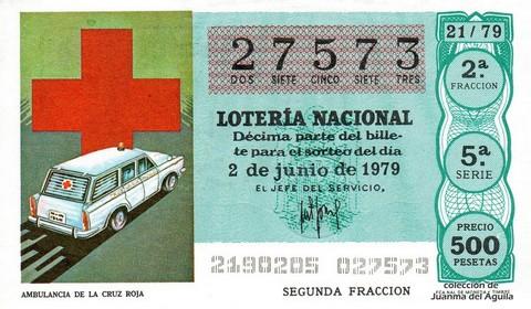 Décimo de Lotería 1979 / 21