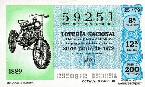 Décimo de Lotería 1979 / 25