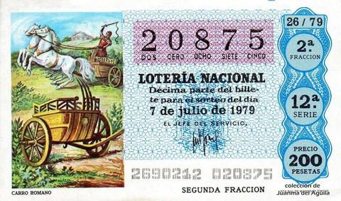 Décimo de Lotería 1979 / 26