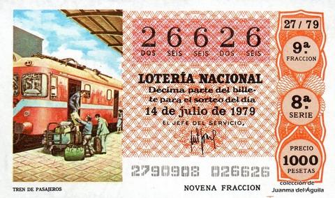 Décimo de Lotería 1979 / 27