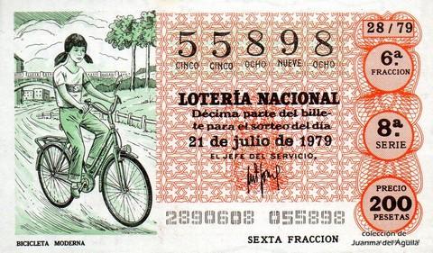 Décimo de Lotería 1979 / 28
