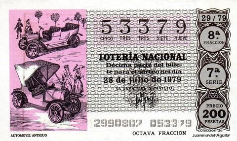 Décimo de Lotería 1979 / 29