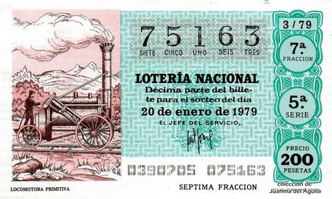 Décimo de Lotería 1979 / 3
