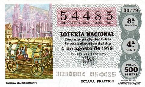 Décimo de Lotería 1979 / 30
