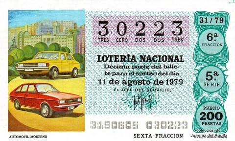 Décimo de Lotería 1979 / 31