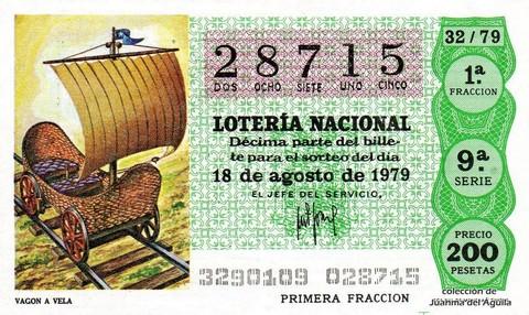 Décimo de Lotería 1979 / 32