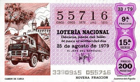 Décimo de Lotería 1979 / 33