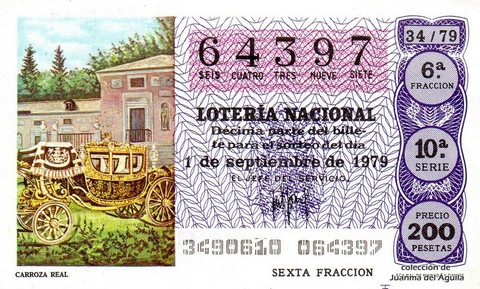 Décimo de Lotería 1979 / 34