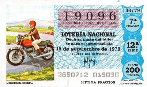 Décimo de Lotería 1979 / 36