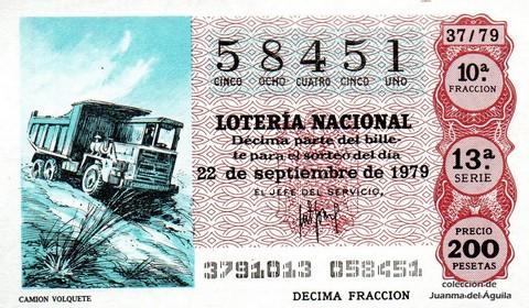 Décimo de Lotería 1979 / 37