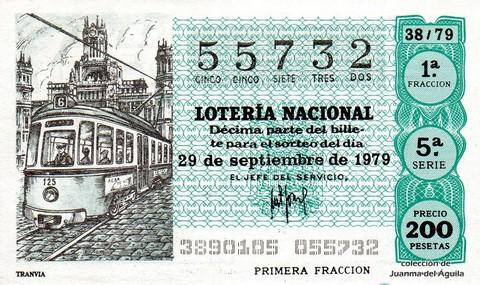 Décimo de Lotería 1979 / 38