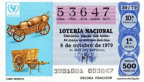 Décimo de Lotería 1979 / 39