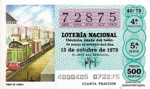 Décimo de Lotería 1979 / 40
