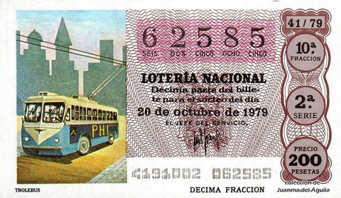 Décimo de Lotería 1979 / 41