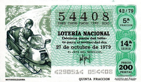 Décimo de Lotería 1979 / 42