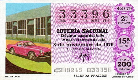 Décimo de Lotería 1979 / 43