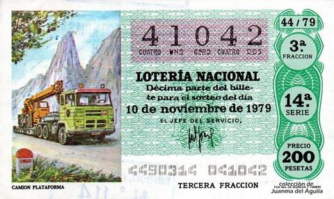Décimo de Lotería 1979 / 44