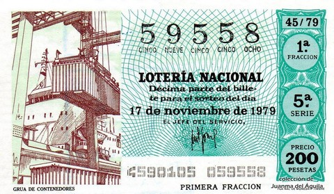 Décimo de Lotería 1979 / 45