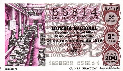 Décimo de Lotería 1979 / 46