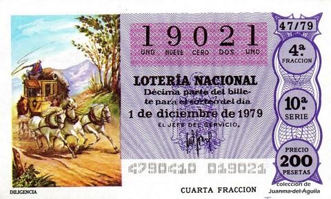 Décimo de Lotería 1979 / 47